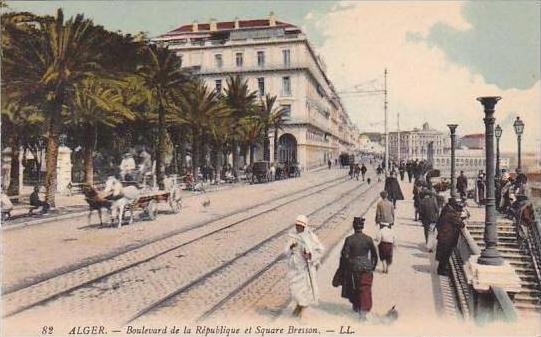 Algeria Alger Boulevard de la Republique et Square Bresson