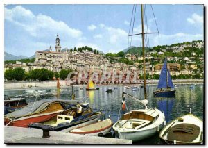Modern Postcard The wonderful sites of the French Riviera Menton M general vi...