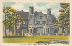 WINDSOR , Ontario , Canada , 1910-20s ; Willistead Public Library
