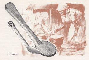 Bophutswana Leswana Cooking Tools Cookery Postcard