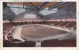Ohio Columbus Interior Of Coliseum Ohio State Fair Grounds1939