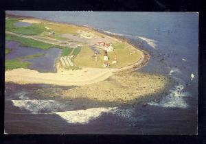 Narragansett, Rhode Island/RI Postcard, Aerial Of Point Judith Lighthouse/Light