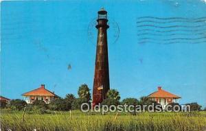 Gulf of Mexico Postcard Post Card Bolivar Lighthouse