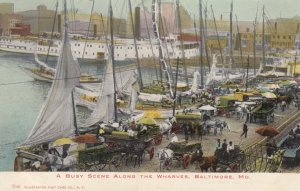 BALTIMORE , Maryland , 1901-07 ; Along the Wharves