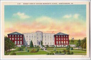 Sunset View of Eastern Mennonite School, Harrisonburg VA
