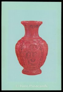 Begonia-like vase, Carved lacquer ware