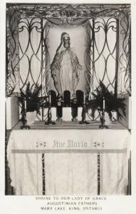 RP: KING, Ontario, Canada, 1920-1930s; Shrine to our Lady of Grace, Mary Lake