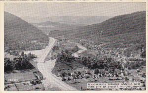 Pennsylvania Turnpike Looking West With Everett In The Foreground Dexter Press