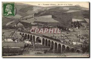 Old Postcard Tarare Bel Air and the Viaduct