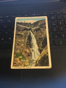 Vintage Postcard; Bear Creek Falls between Oura and Silverton CO