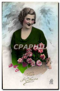 Old Postcard Vive Ste Catherine Female