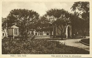 cape verde, PRAIA, Vista Parcial da Praça do Albuquerque (1910s) Postcard