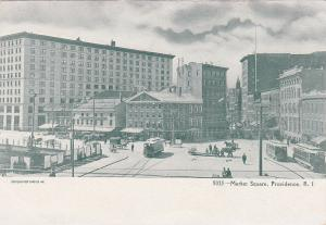 Market Square, Trolley Cars, PROVIDENCE, Rhode Island, 1901-07