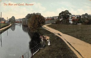 Canal Post Card The Moor and Canal, Boxmoor Unused