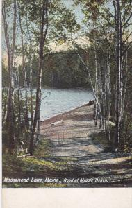 15281 ME Moosehead  1905    Road  at Middle Beach