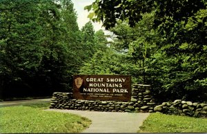Great Smoky Mountains National Park Welcome Sign