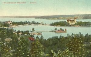 Sweden, The Saltseabath Stockholm, early 1900s unused Pos...