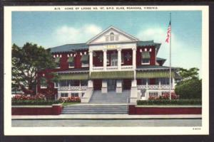 Elks Lodge 197 Roanoke VA Postcard 4288
