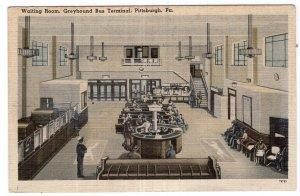 Pittsburgh, Pa., Waiting Room, Greyhound Bus Terminal