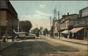 Everett MA Broadway c1905 Postcard - Rotograph