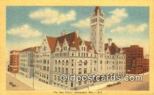 Milwaukee, WI USA Post Office Unused