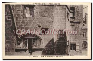 Postcard Old Besse Old Houses of century XV