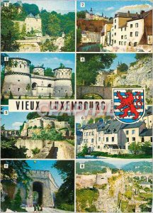 Postcard Modern Luxembourg Three Towers Picturesque view the Grund Three Acorns