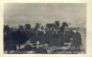 Real Photo Parque Central Cienfuegos Cuba, Republica De Cuba Writing On Back