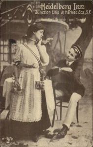 San Francisco CA Heidelberg Inn Advertising Postcard 1914 Expo Cancel
