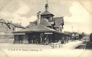 P. and R.R.R. Station, Lewisburg, Pennsylvania, PA, USA Railroad Train Depot ...