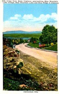 NY - Adirondacks, Blue Mountain Lake. Village Approach