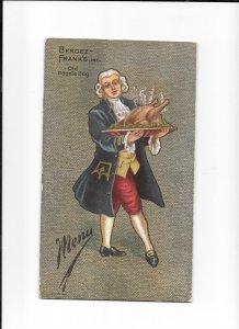 Vintage Restaurant Menu BERGEZ FRANKS OLD POODLE DOG 1908