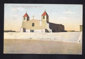 ISLETA NEW MEXICO OLD CHURCH SPANISH INDIAN RESERVATION VINTAGE NM POSTCARD
