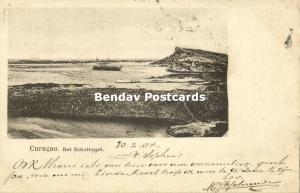 curacao, WILLEMSTAD, Het Schottegat (1904) Stamp