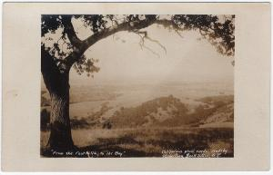 1917-30 San Francisco CA RPPC From Foothills to The Bay AZO Real Photo Postcard