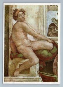 1997 SLAVE Nude Man by Michelangelo GDR Germany Art Vintage Postcard