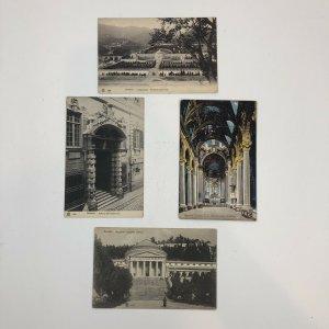 Lot Of 4 Italy Genova Postcard Old Vintage Card View Standard Souvenir Postal