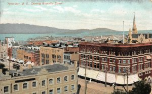 Vancouver, B.C., Canada Granville Street Scene c1910s Vintage Postcard
