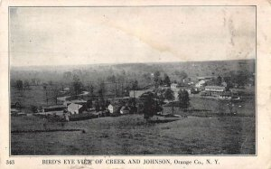 Johnson New York panoramic birds eye view creek and town antique pc ZD549439