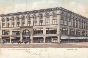 LEWISTON , Maine, PU-1906 ; The Great department store