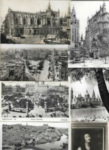 Spain - Sevilla Valencia Barcelona and more Postcard Lot of 16 mostly RPPC 01.01