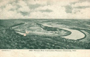 Chattanooga,TN, Moccasin Bend from Lookout Mountain, Vintage Postcard h3837