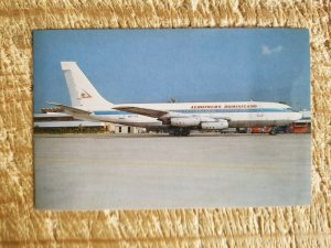 AEROTOURS DOMINICANO BOEING 720-025 IN 1986.VTG AIRCRAFT POSTCARD*P43