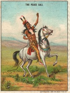 1910's The Peace Call White Horse Hassan The Oriental Smoke Trade Card