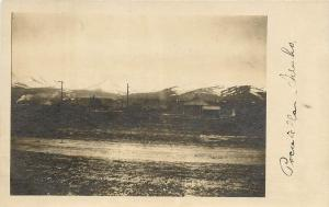 RPPC Postcard Pocatello ID Bannock County Town and Mountains in Distance