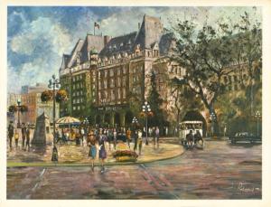 The Empress Victoria BC Frederick Priddat Art Artist Signed Vintage Postcard D20