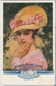 ELEGANT VINTAGE POSTCARD: Glamour, Ladies, Donnine, Spain (Mallorca)