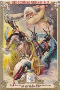 Liebei S0412 Scandinavian Mythology E Donar im Kampf gegen die Midgardschlang...