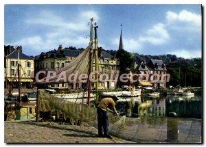 Modern Postcard Honfleur The Vieux Bassin
