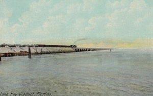 FLORIDA, 1911, Train on Long Key Viaduct